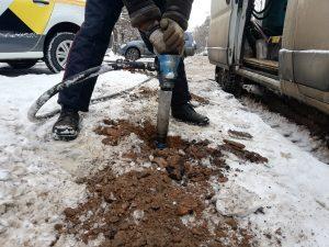 Аренда компрессора с отбойниками для промерзшей земли