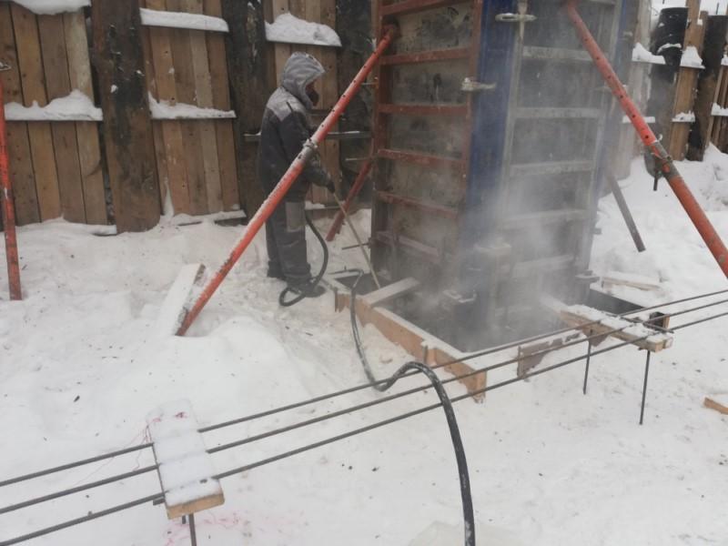 Очистка снега воздухом
