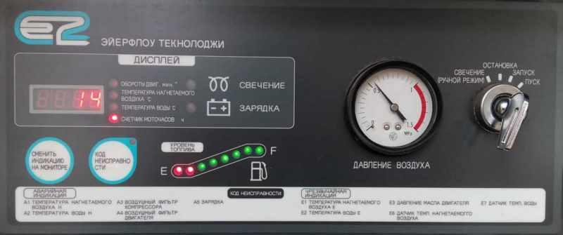 Панель управления компрессора